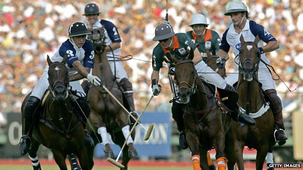 Polo players in Buenos Aires