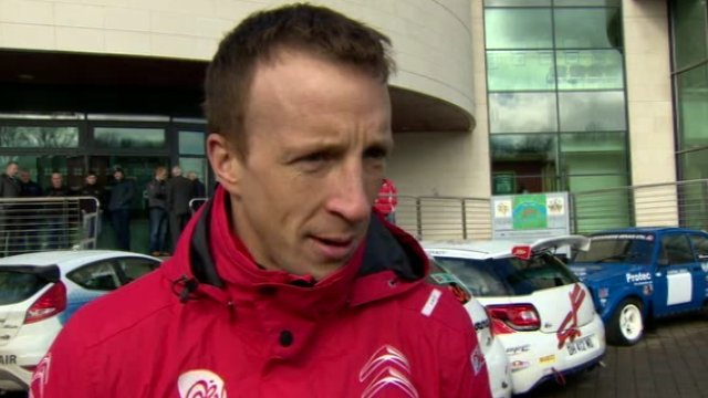 World Rally Championship competitor Kris Meeke at the launch of this year's Circuit of Ireland Rally in Belfast