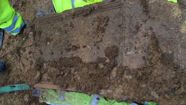 Tombstone unearthed in Cirencester