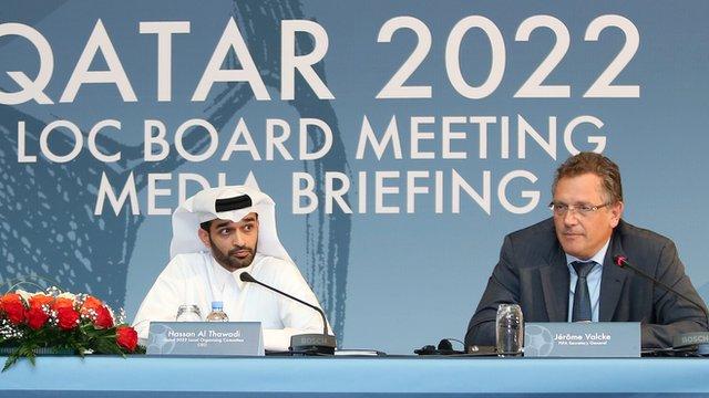 Fifa secretary general Jerome Valcke (right)