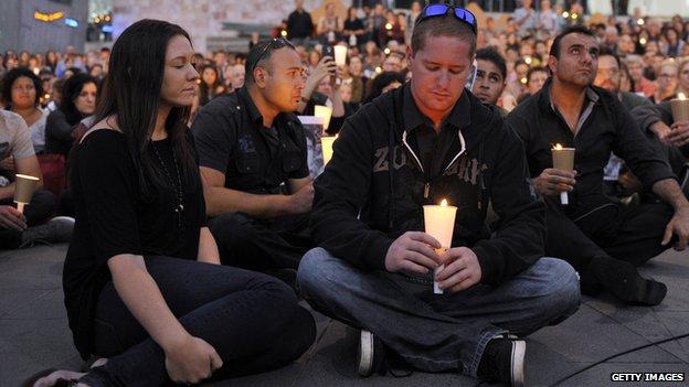 Vigil in Australia following death in detention centre on Manus Island