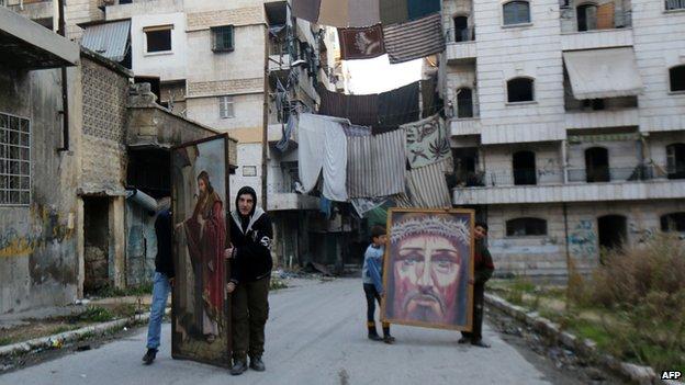 Syrian Christians in Aleppo, December 2014