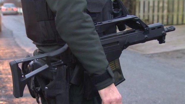 Police at scene near Crossmaglen