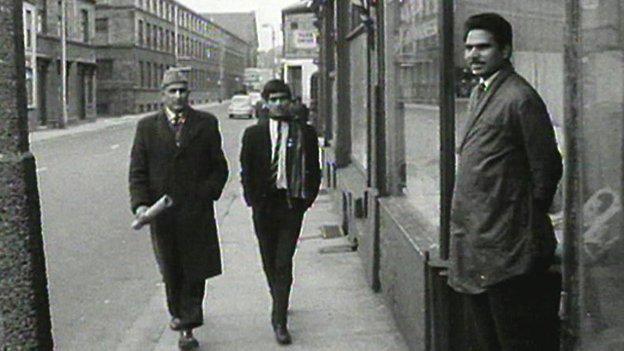 Pakistani men in Bradford in 1960