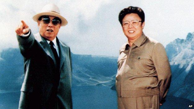 Kim Il-sung and Kim Jong-il