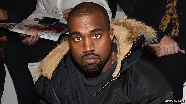 Kanye at a fashion show
