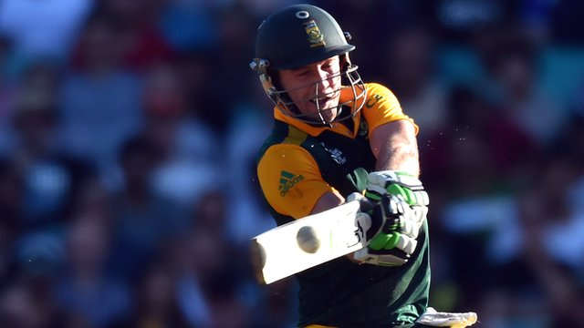 Cricket World Cup 2015: AB de Villiers destroys records