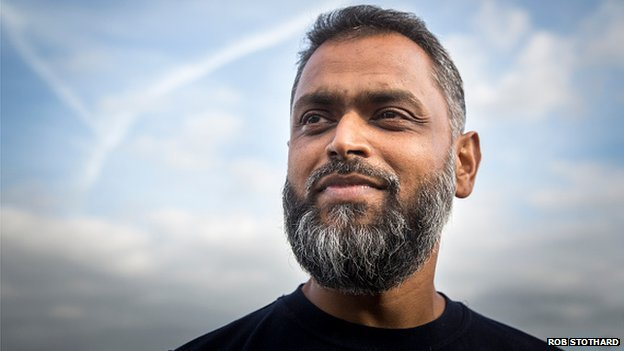 Moazzam Begg after being released from Belmarsh Oct 2014