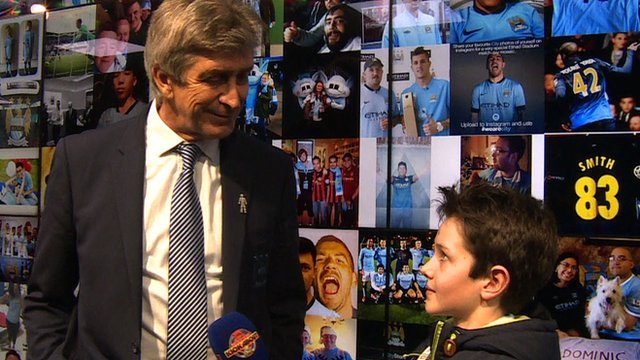 Behind the scenes at Manchester City - Superfan Archie talks to manager Manuel Pellegrini
