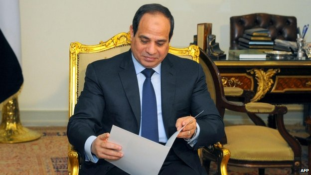 President Sisi in presidential palace - 23 February