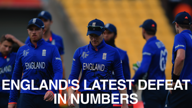 England's players walk off after losing to Sri Lanka