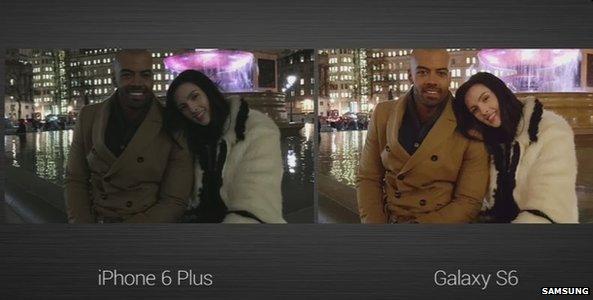 IPhone 6 Samsung s6 camera