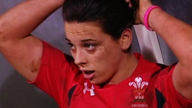 Wales women rugby player Sioned Harries