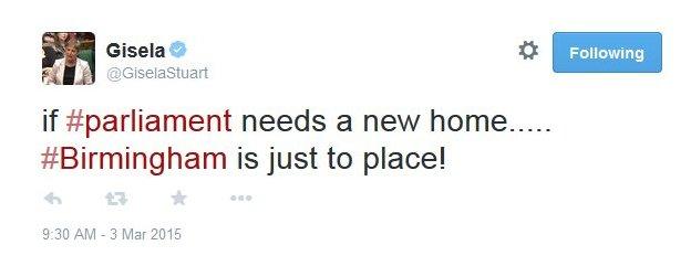 Gisela Stuart tweet