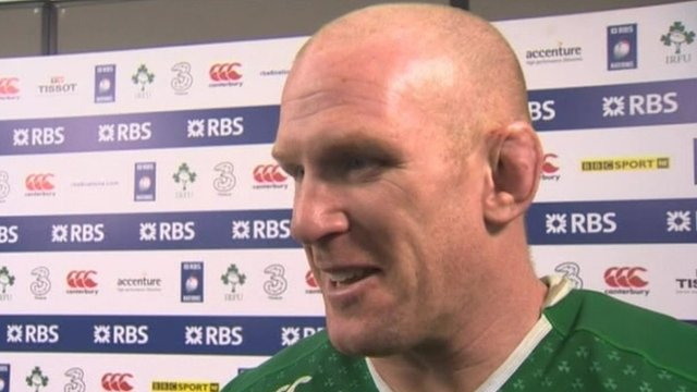 Paul O'Connell gives his reaction after being named as Ireland's sexiest rugby player