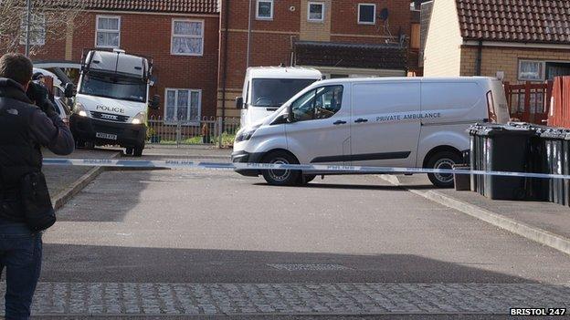 Private ambulance at Barton Court