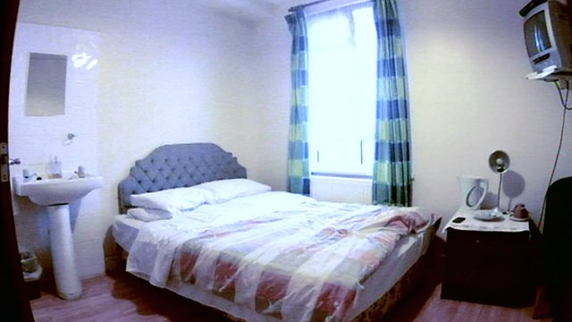 Guesthouse room in Oxford where abuse took place