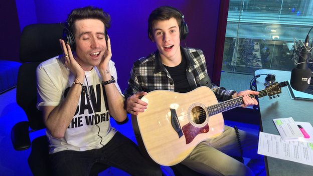 Nick Grimshaw and Shawn Mendes