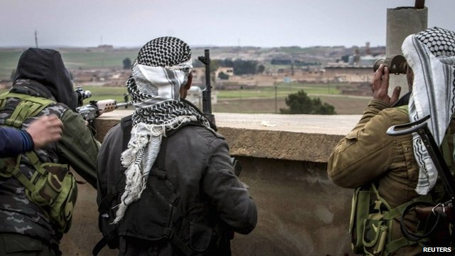File photo from 25 February 2015 of fighters from the Kurdish People's Protection Units (YPG)