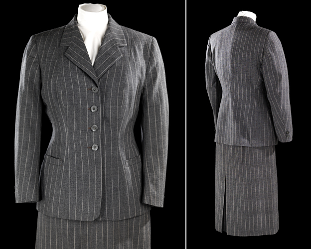 WW2 - woman's outfit made from a man's suit