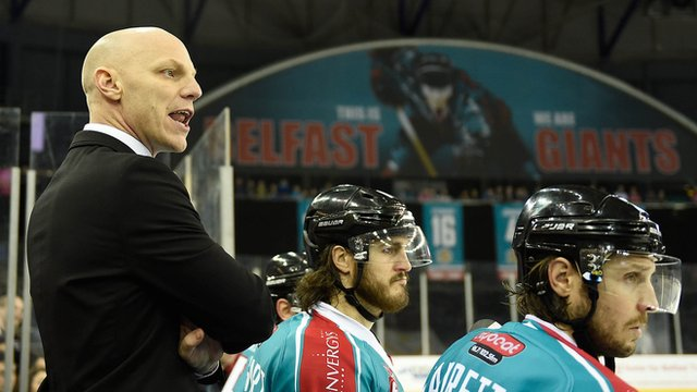Belfast Giants coach Steve Thornton