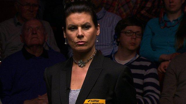 Snooker referee Michaela Tabb
