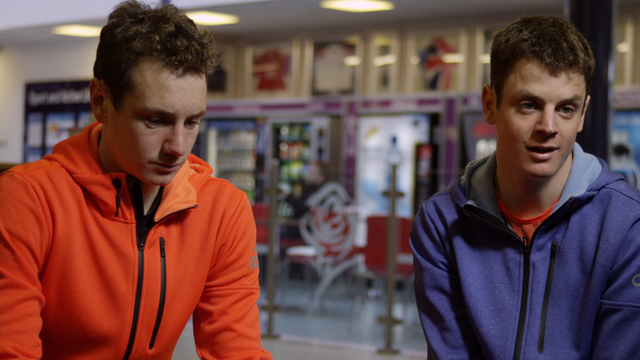 Alistair (left) and Jonathan Brownlee