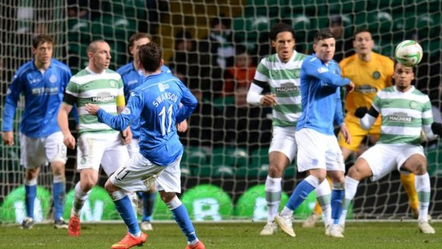 Danny Swanson (11) gave St Johnstone the lead with a 25-yard shot