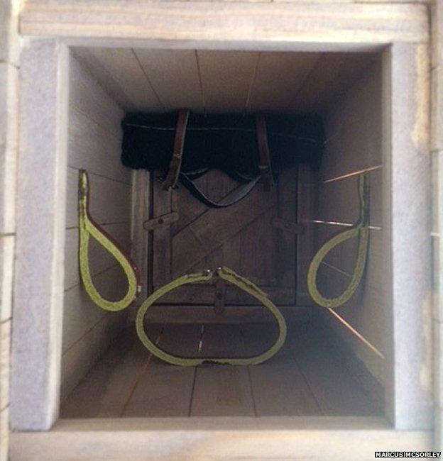 Inside the replica box