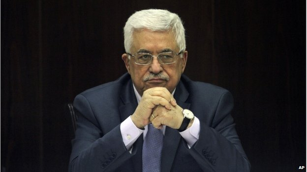 Palestinian President Mahmoud Abbas chair a session of the Palestinian cabinet in the West Bank city of Ramallah