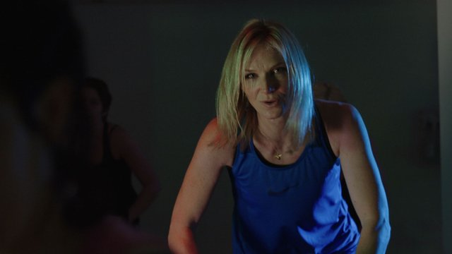 Jo Whiley working out