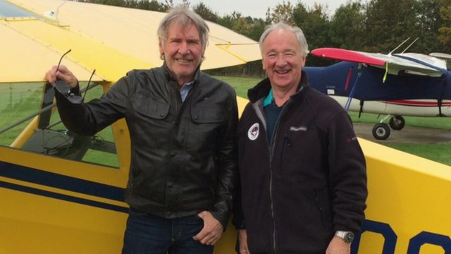Harrison Ford with instructor Bob Pooler