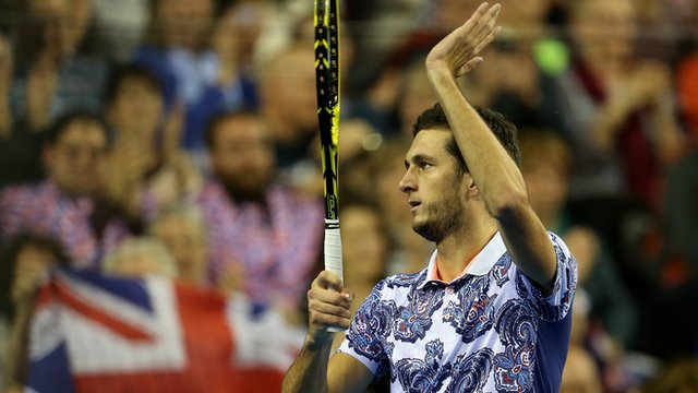 Davis Cup 2015: Great Britain's James Ward beats John Isner