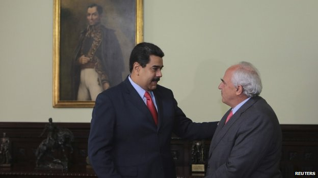 Nicolas Maduro and Ernesto Samper