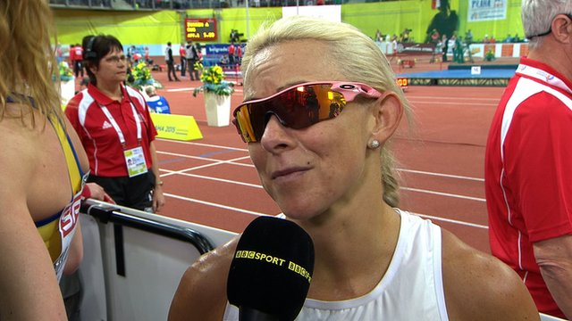 European Indoor Championships. Jenny Meadows misses out on