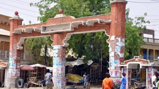 The gate to the Monday Market