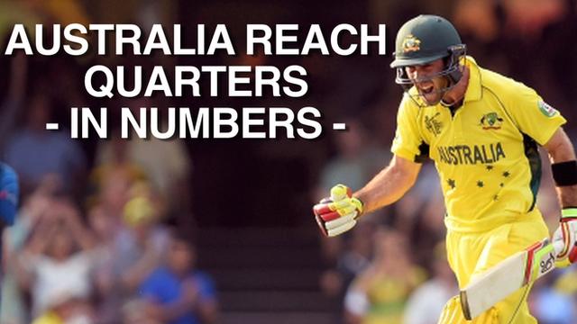 Australia progress to the quarter-finals with victory over Sri Lanka
