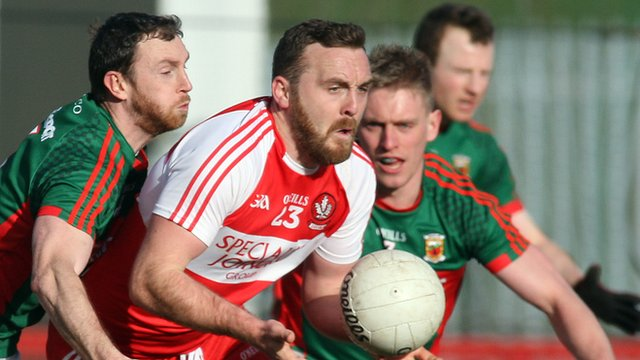 Derry were beaten by Mayo at Celtic Park