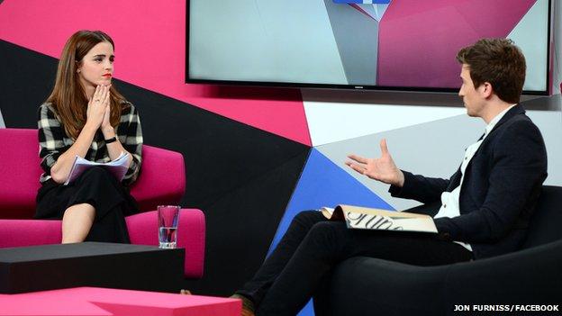 Emma Watson and Greg James