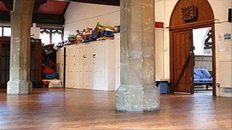 Church hall, site for St Luke's Church of England Primary School, Camden