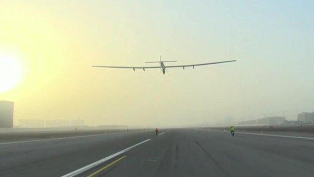 Plane takes to the skies