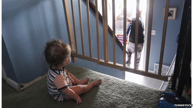 Small child left alone