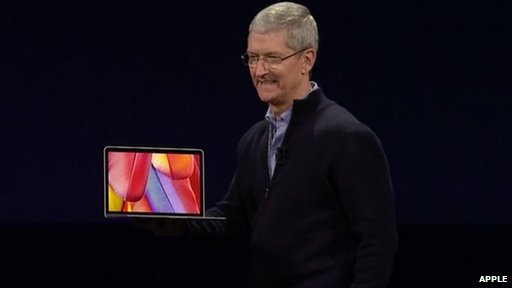 Tim Cook with laptop