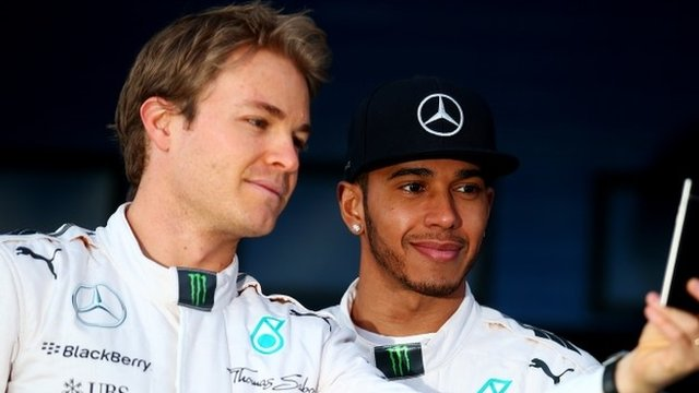 Mercedes drivers Nico Rosberg and Lewis Hamilton