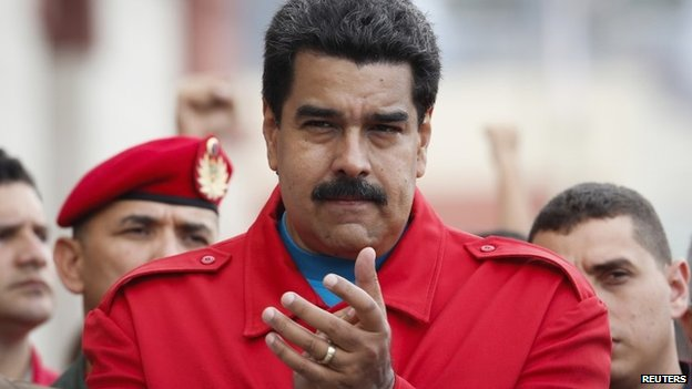 Venezuela's President Nicolas Maduro attends a ceremony commemorating the 2nd anniversary of the death of the late president Hugo Chavez at the 4F military fort in Caracas 5 March 2015