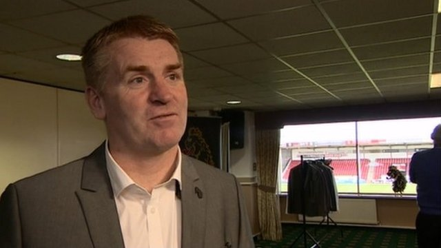 Walsall boss Dean Smith suited up for Wembley