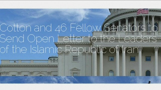 Screen grab of open letter sent by US Republicans in Congress to Iran's leaders