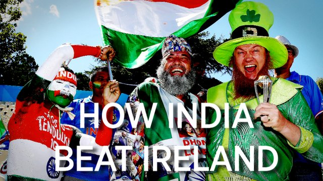 India and Ireland fans cheer together