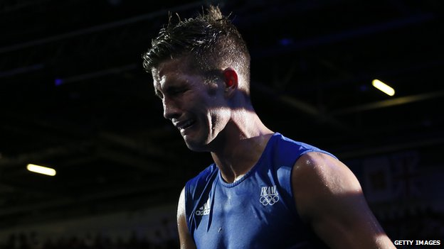 Vastine cries in the ring at the London Olympics