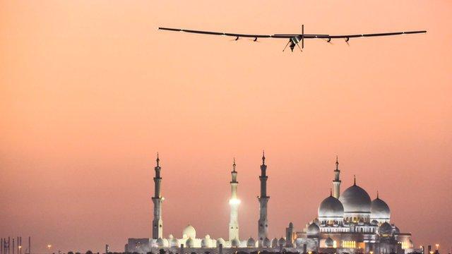 Solar Impulse 2 in Abu Dhabi